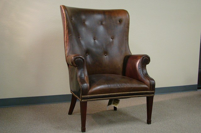 Elegant Hickory Chair 0382 55 Isaac Wing Chair ...